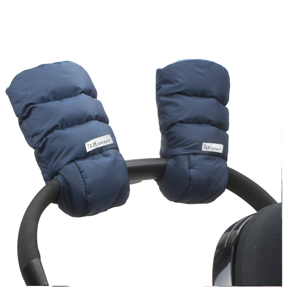 7AM Enfant WarMMuffs 212, Wind and Water-Resistant Stroller Gloves with Universal Fit, Best for Freezing Winter Conditions, (Midnight, One Size, Set of 2) 7 A.M. ENFANT HM212-MN