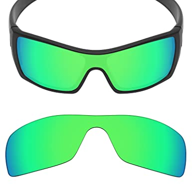 bf4628c33a1 MRY Anti-Scratch POLARIZED Replacement Lenses for Oakley Batwolf Sunglass -  Opt (Emerald Green - Polarized