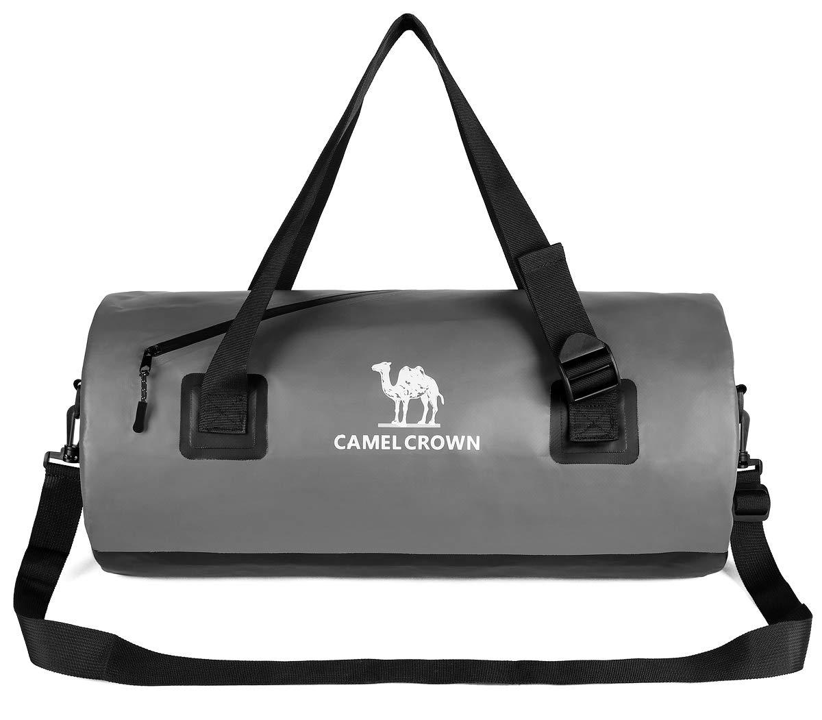 CAMEL CROWN 防水ダッフルバッグ ポリ塩化ビニル 気密 旅行バッグ ドライバッグ バックパック 旅行かばん アウトドア スポーツ ジム  グレー B07HNZPCHM