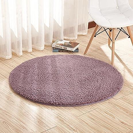 Amazon Com Super Soft Gray Purple Round Area Rug Kids Rugs Artic