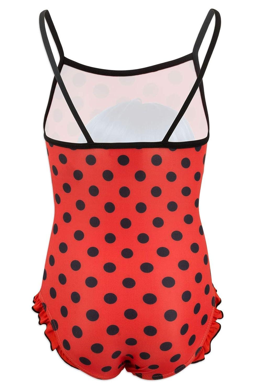 Costume Intero con Volant Mare Piscina Full Print novit/à Prodotto Originale con Licenza Ufficiale SE19XX Miraculous LadyBug e Cat Noir Bambina