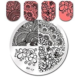 Born Pretty Nail Art Stamping Template Image Plate Elegant Flower BP17