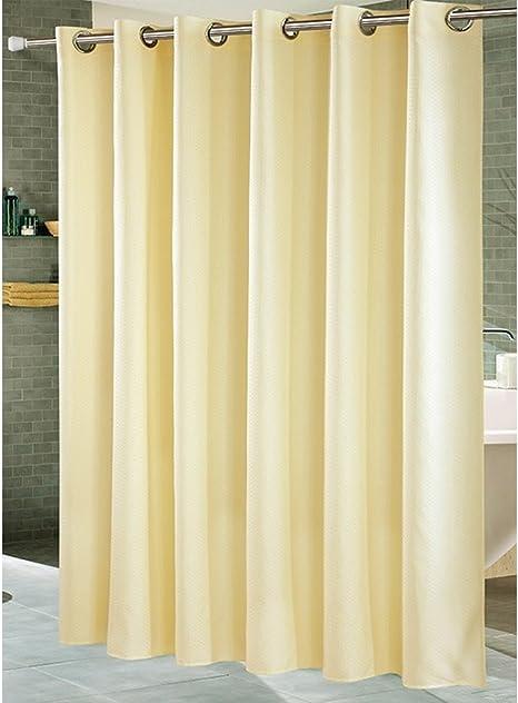 Hotel wasserdichte Bad Dusche Trennwand Vorhang Polyester Stoff Metall Ösen