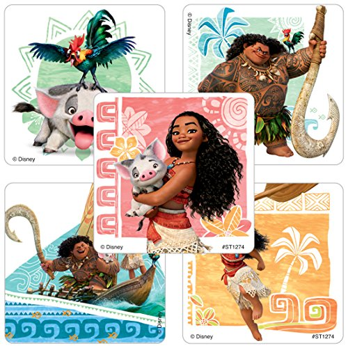 Stickers Character Kids - SmileMakers Moana Stickers - Prizes 100 Per Pack