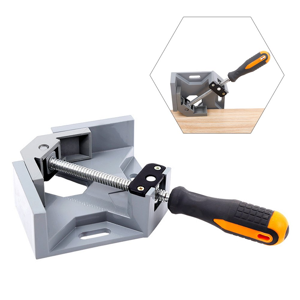 Vankcp Adjustable 90° Welding Clamp Right Angle Aluminum Alloy Corner Clamp for Framing, Carpenter, Engineering, Welding, Photo Framing, Adjustable Vise With Single Handle