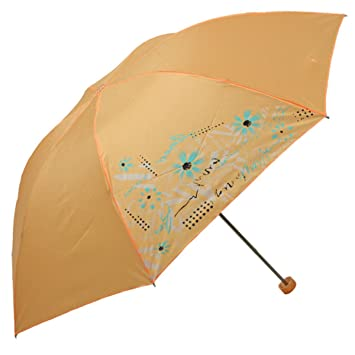 LGZOOT Paraguas Plegable Fácil De Llevar Paraguas Mujeres Paraguas Viaje Paraguas,Orange