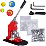 Happybuy Button Maker 1Inch 25mm Button Maker Machine 1000Pcs School DIY Button Badge Make with Button Parts (1000Pcs Button Parts)