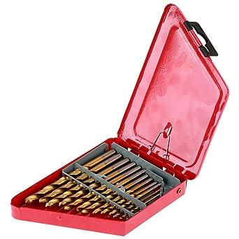 Juego de brocas helicoidales de 13 piezas, herramienta de broca ...