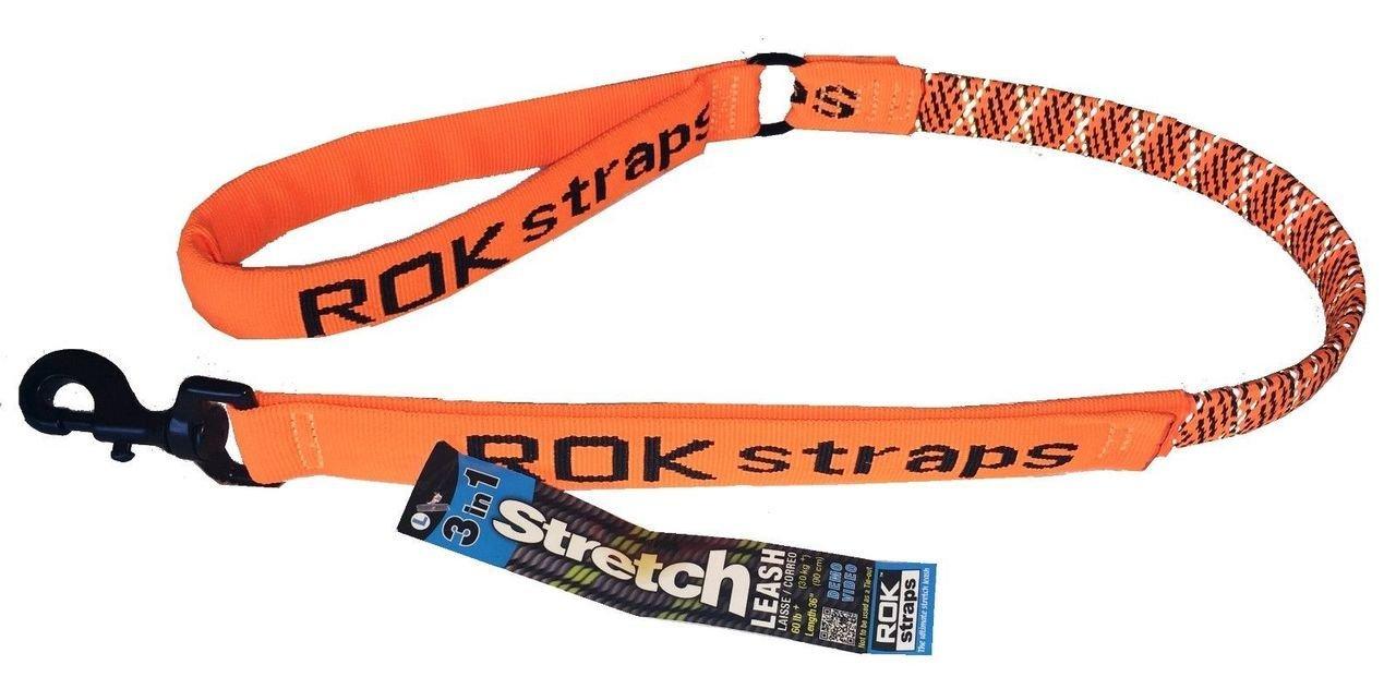 ROK Straps Lead Strap, 36 , Reflective orange