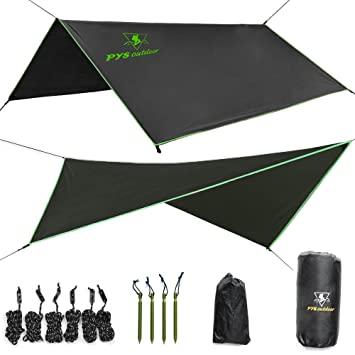 Hammock Rain Fly u2013 Tent Tarp for C&ing. Essential Survival Gear. Stakes Included.  sc 1 st  Amazon.com & Amazon.com : Hammock Rain Fly - Tent Tarp for Camping. Essential ...