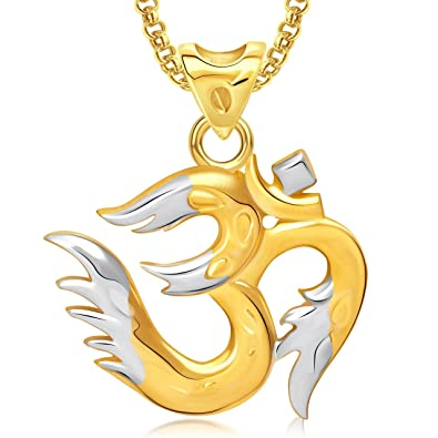 Favorite Buy Amaal Om God Pendant With Chain For Men, Women Gold Plated In  FJ38
