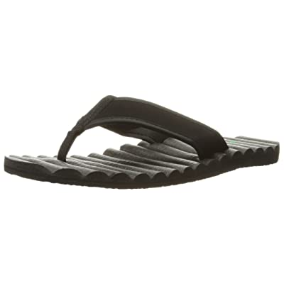 Sanuk Men's Beer Cozy Hop Top Sandal, Black, 8 M US | Sandals