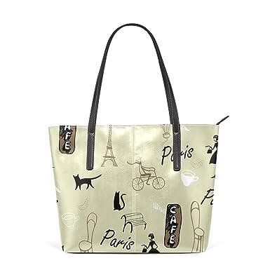 33612b6df186 Image Unavailable. Image not available for. Color  MALPLENA Amazing Paris  designer handbags for women Soft Work Bag