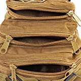 Flexzion Tactical Backpack (Tan) Outdoor Military