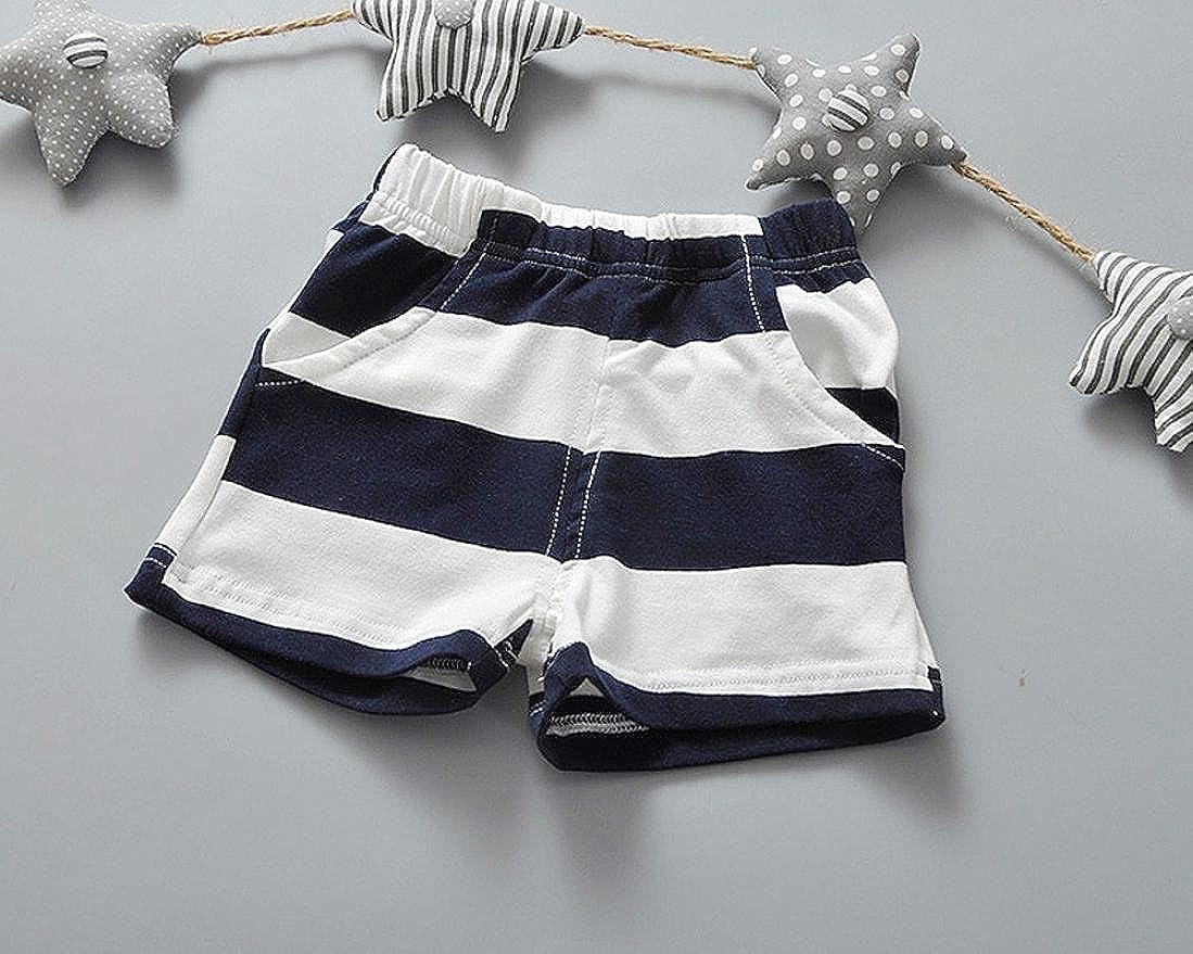 Fabal Baby Girls 2Pcs Sets Bowtie Tank Tops Dresses+Shorts Pants Striped Clothing Sets