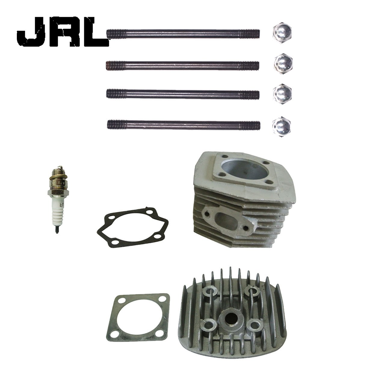 JRL Cylinder Head&Spark Plug&Cylinder& 4x Screws For 80cc Motorized Bicycle Nantong Power