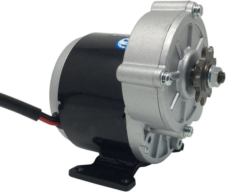 BEMONOC 24 Volt 350 Watt MY1016Z3 Gear Reduction Electric Motor with 9 Tooth Sprocket