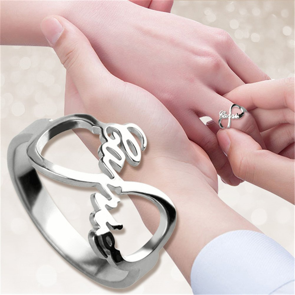 zhaolian888 Personalized Ring in 925 Sterling Silver, Personalised ...