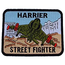 U.S.M.C. Harrier Street Fighter Patch Brown & Green 3 by FindingKing