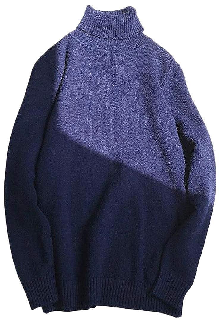 Hajotrawa Mens Turtleneck Thick Winter Knitwear Pullover Sweater Jumper