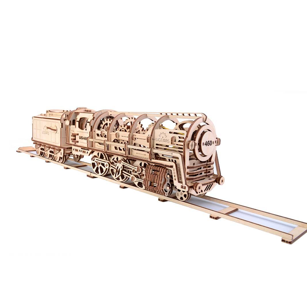 UGEARS Locomotive Mechanical 3D Puzzle Eco Toys by UGEARS UG70012