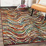 Safavieh Aruba Collection ARB502M Modern Abstract Floral Multicolored Area Rug (8′ x 10′)