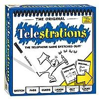 Juego de mesa USAopoly Telestrations Original 8 Player | # 1 LOL Party Game | Juega con tus amigos y familia | Juego hilarante para todas las edades | El juego del teléfono esbozado