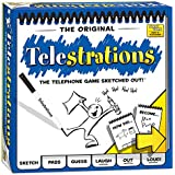USAopoly Telestrations Original 8 Player Board Game | #1 LOL Party Game | Play with your friends and Family | Hilarious Game for All Ages | The Telephone Game Sketched Out