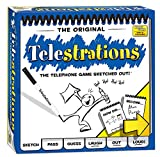 Toys : USAopoly Telestrations Original 8 Player Board Game | #1 LOL Party Game | Play with your friends and Family | Hilarious Game for All Ages | The Telephone Game Sketched Out