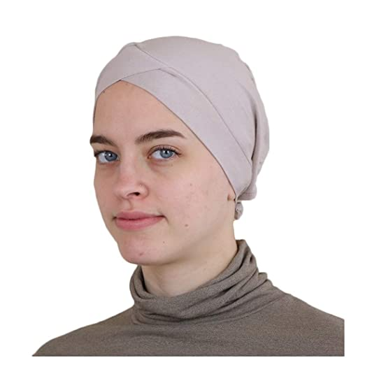 Modefa Criss-Cross Hijab Bonnet Underscarf Cap (Beige)