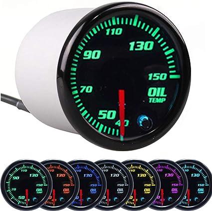 Auto Manometer 2 Zoll 52 Mm Öltemperaturanzeige 50 150 Grad Temperatur Schwarz Rim Shell Meter Für 12 V Benzin Fahrzeug Auto
