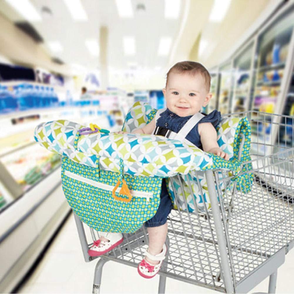 Chariot de supermarch/é de b/éb/é imprim/é par Enfant Portable transportant la Protection antibact/érienne de Coussin de Voyage 12070CM G-wukeer Coussin de Panier de magasinage de