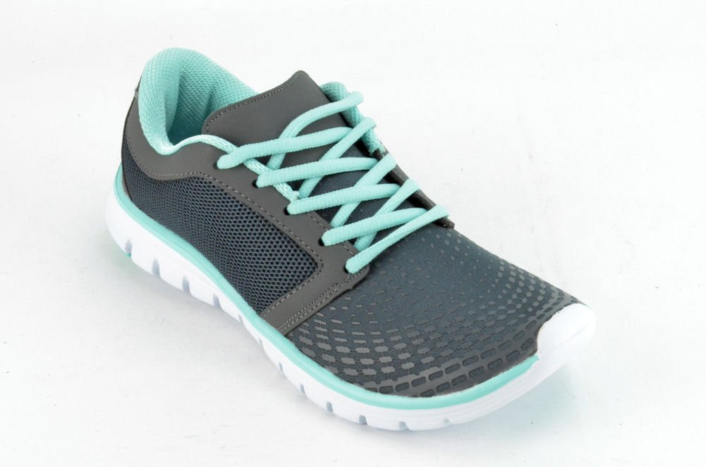 Corkys Runner Women's Turquoise/Grey Running Sneakers US7