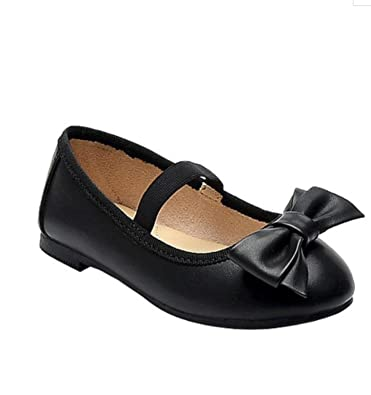 53374f11c432 Cat & Jack Toddler Girls' Cacey Black/Silver Glitter Bow Ballet Flats (5