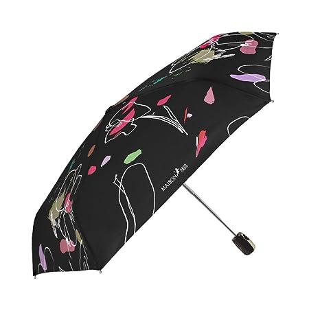 Paraguas Mujer Plegable Maison Perletti - Apertura y Cierre Automático - Acabados Elegantes y Mango con