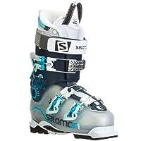 Salomon Quest Pro 80 Ski Boots Crystal Translucent / Dark Blue Women's 23.5