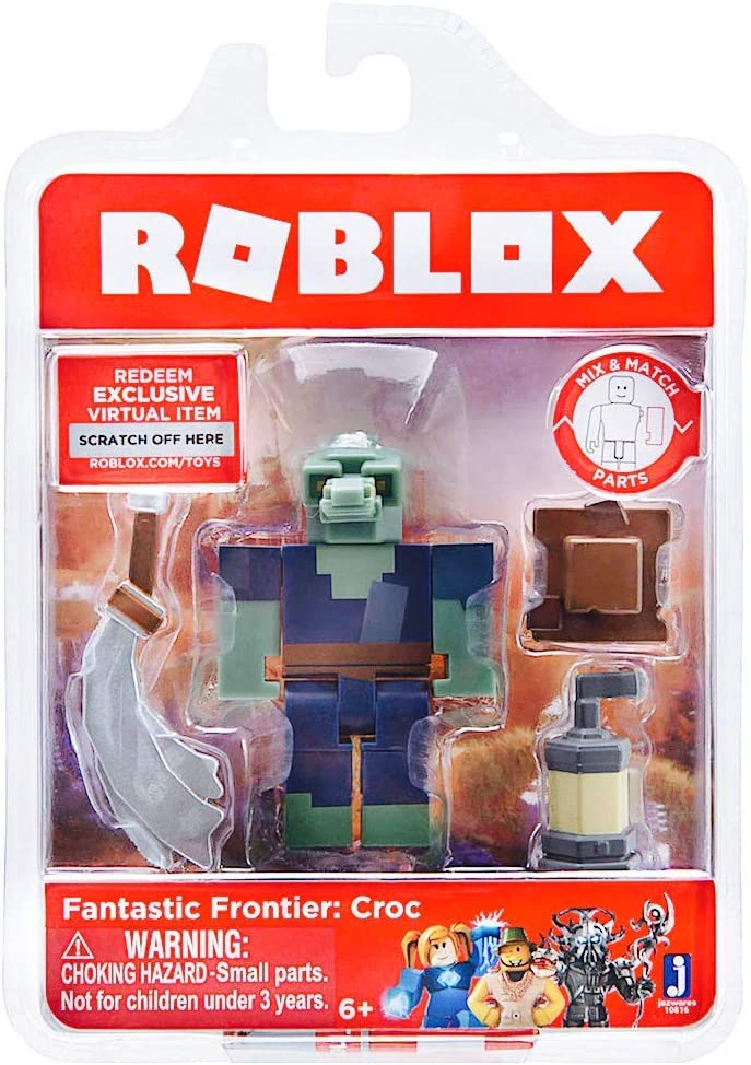 Amazoncom Roblox Toy Figures Playsets Toys Games Amazon Com Roblox Fantastic Frontier Croc Single Figure Core Pack With Exclusive Virtual Item Code Toys Games
