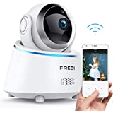 FREDI Wifi Security Camera,Wireless Baby monitor Camera 1080P,Security Ip Camera For Home,Dog Camera Monitor With Two way Audio,Nanny Pet Camera With Night Vision,Pan Tilt,Wps Ir-Cut Motion Detection