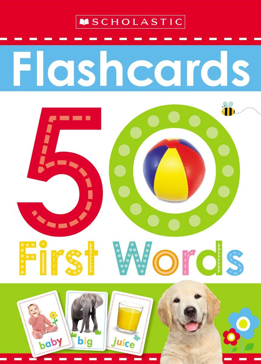 Flashcards: 50 First Words (Scholastic Early Learners