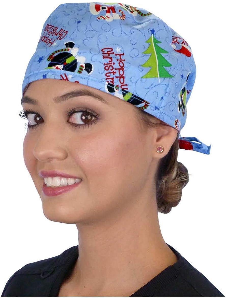 nurse scrub cap ponytail scrub cap christmas Scrub hats womens surgical hat