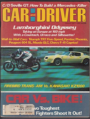 CAR & DRIVER Peugeot 604 SL Mazda GLC road tests 8 1977