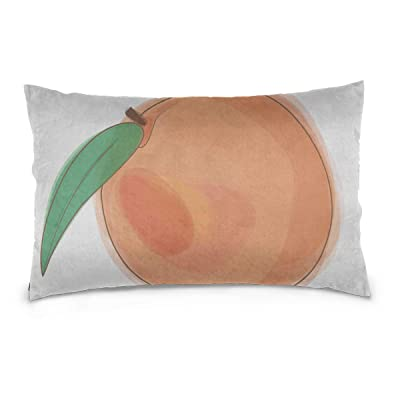 "Yuejh Zippered Pillow Covers Colorful Food Eat Fruit Peach Cartoon 100% Cotton Reversible Zipper Standard Size (20""x 30"") Boy Pillowcase King Pillow Cover Couch Pillow Covers: Kitchen & Dining"