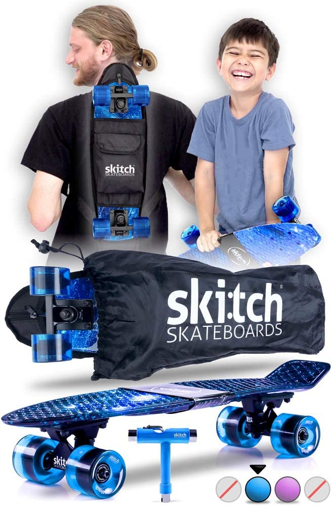 Skateboard with skate tool and tote bag. Best skateboard for gift to kids