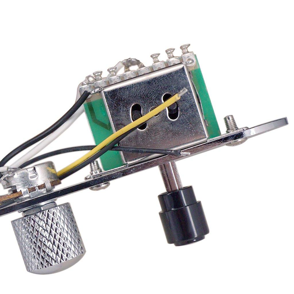 Perillas Del Interruptor Del Arn/és De Cableado De La Placa De Control Precableado De 3 V/ías Para Telecaster Guitarra Dorado como se describe