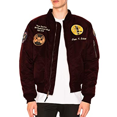 7fbe7e93b82 Amazon.com  Schott NYC Highly Decorated Embroidered Flight Jacket ...