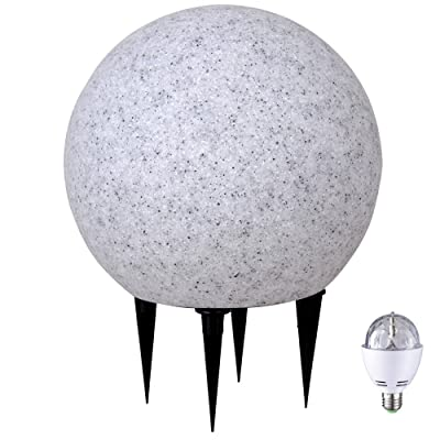 Boule lumineuse LED RVB piquet lampe DEL luminaire granit éclairage ...