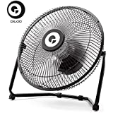 Bargain World Digoo DF-101 10 inch Large Full Black Metal Electrical Rotatable USB Rechargeable 18650 Battery Cool Desk Fan
