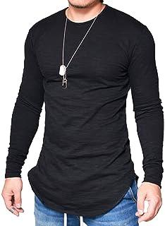 8314464865 JOKHOO Mens Long Sleeve Hipster Hip Hop Basic Henley T Shirt for Men
