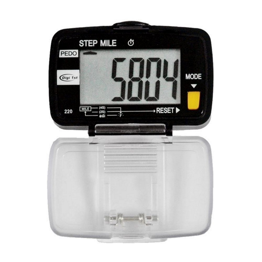 Digi 1st P-220 Pedometer with Step, Distance & Activity Time (Large Display) by Digi 1st (Image #1)