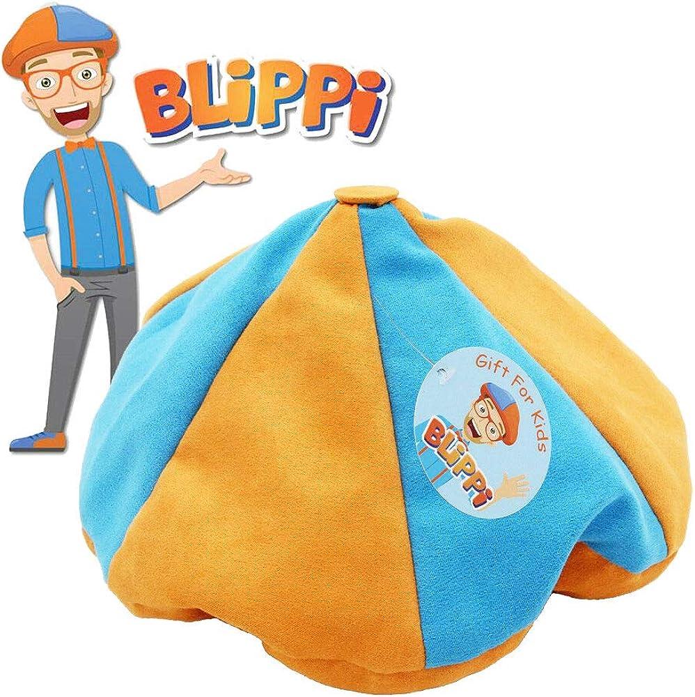 Blippi Hat Unisex Children Kids Teenagers Blippi Cap Glasses Cosplay Prop